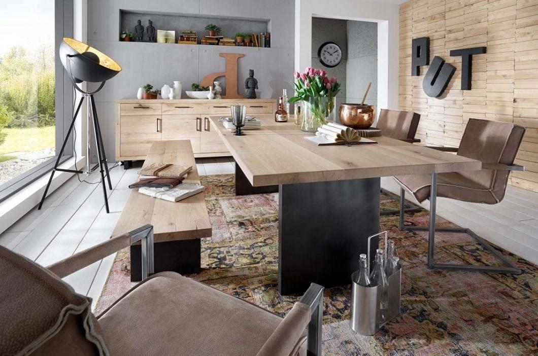Tavolo da pranzo gold in legno massiccio mobile moderno for Tavoli da pranzo in legno