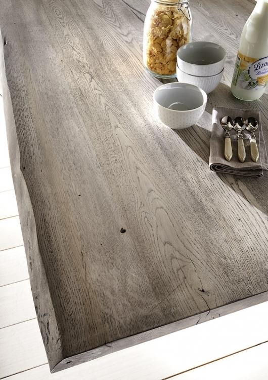 Tavolo da pranzo gold in legno massiccio mobile moderno - Tavolo legno grezzo moderno ...