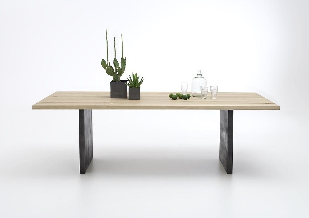 Tavolo da pranzo gold in legno massiccio mobile moderno sala