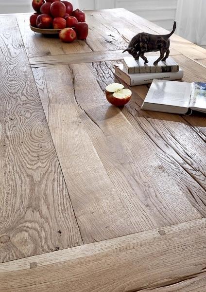 Tavolo da pranzo massiccio Nature, in legno di rovere riciclato