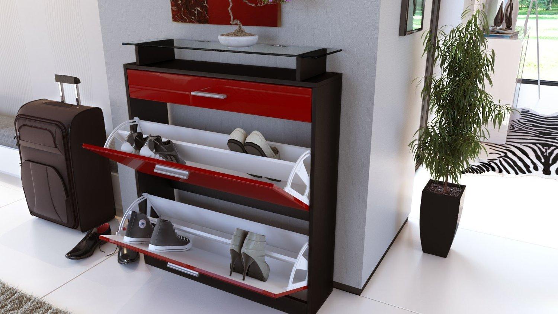 Scarpiera Ikea Moderna Funzionalita : Scarpiera nera moderna brina mobile ingresso entrata in