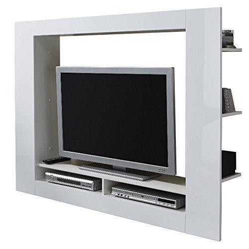 Porta tv moderno quadro parete soggiorno design mobile bianco - Mobile porta tv girevole design ...