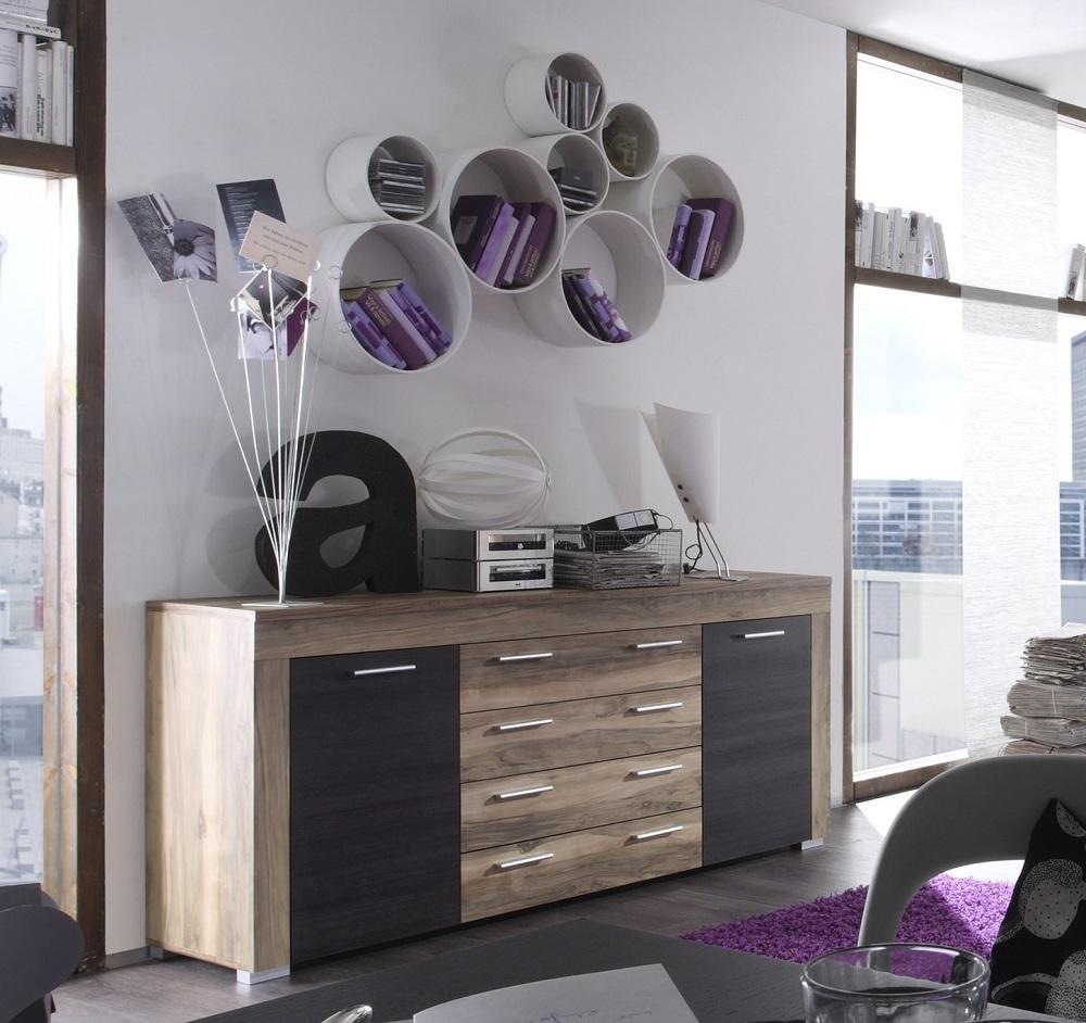 Madia moderna friend mobile soggiorno in 3 colori credenza for Colori mobili moderni