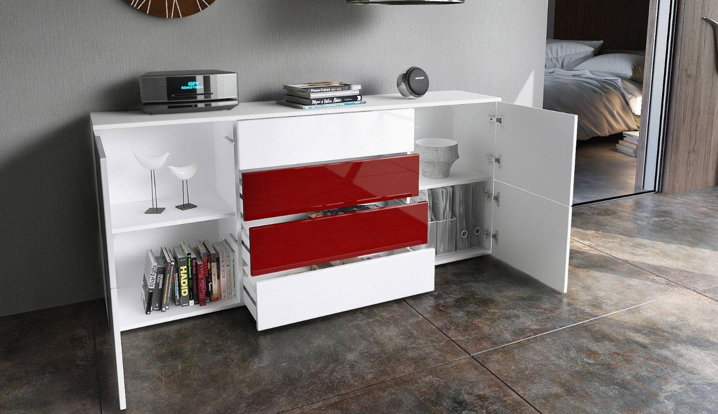 Credenza Cucina Con Cassetti : Dama moderna credenza con 4 cassetti mobile madia cassettiera