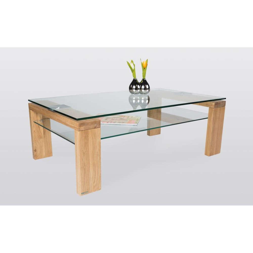 Tavolino Da Salotto In Legno E Vetro.Tavolino Basso Da Salotto Moderno Alida Cm 100x60x38 Piano E Ripiano In Vetro Telaio In Rovere
