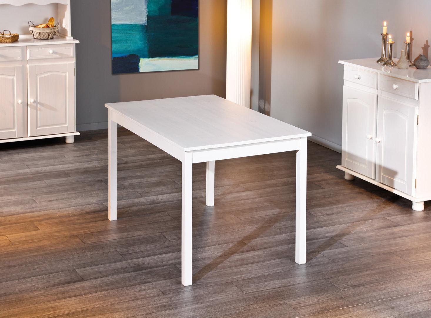 Divo tavolo moderno in legno bianco mobile per cucina sala - Tavolo da cucina ...