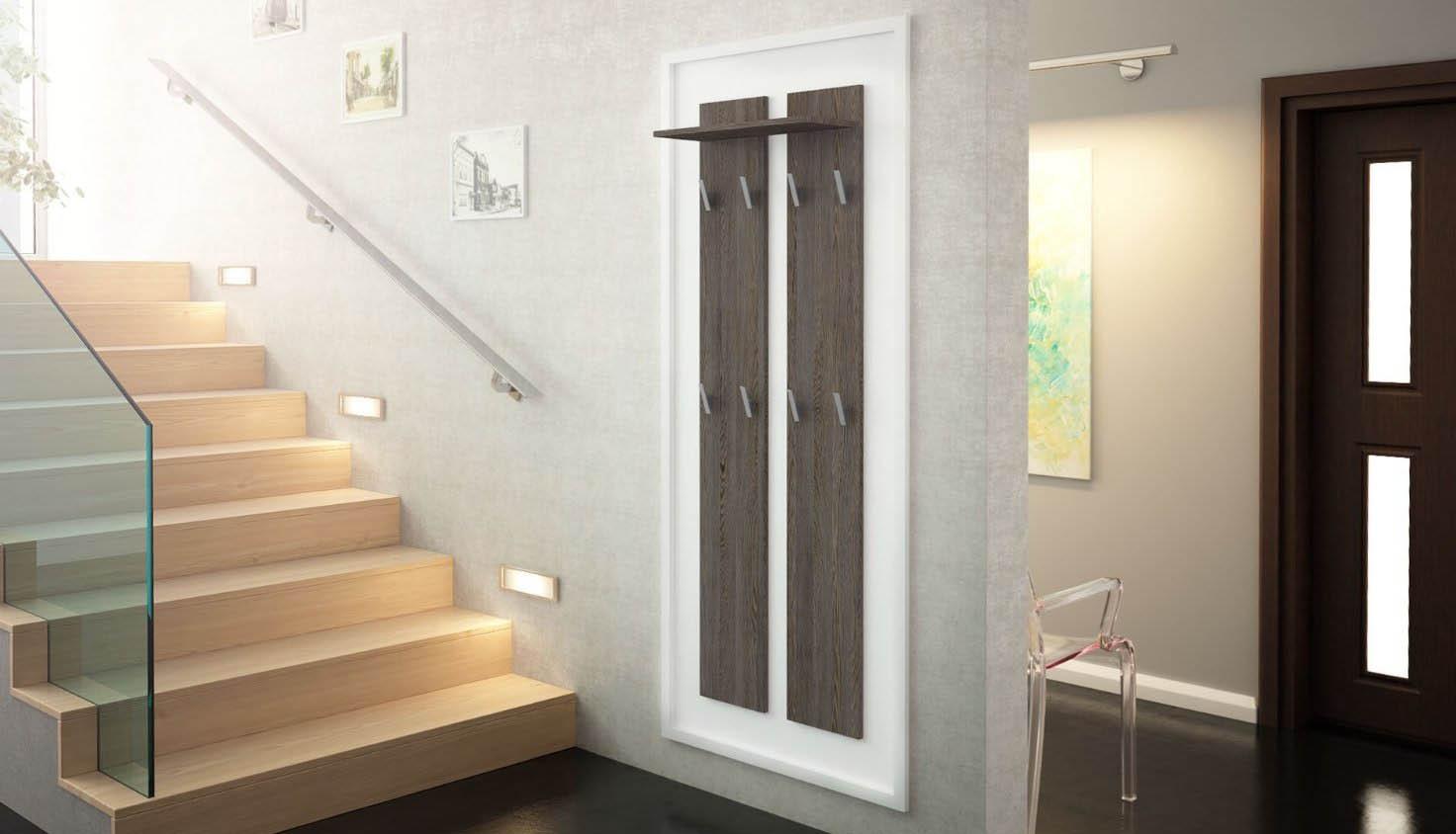 Pannello appendiabiti sedici mobile per ingresso e corridoio