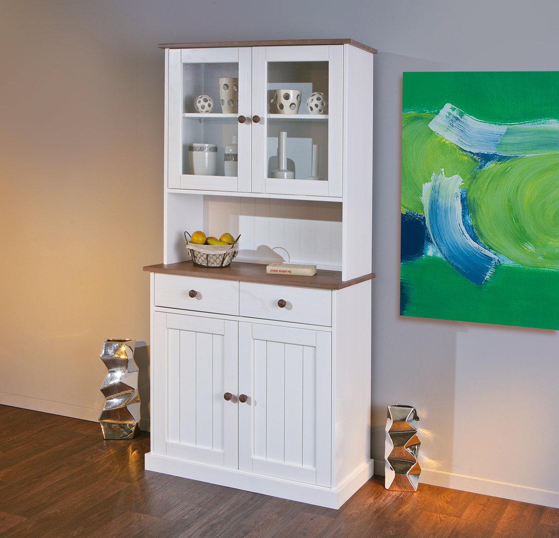 Vetrina stile country Linda V, mobile soggiorno vetrinette,sala