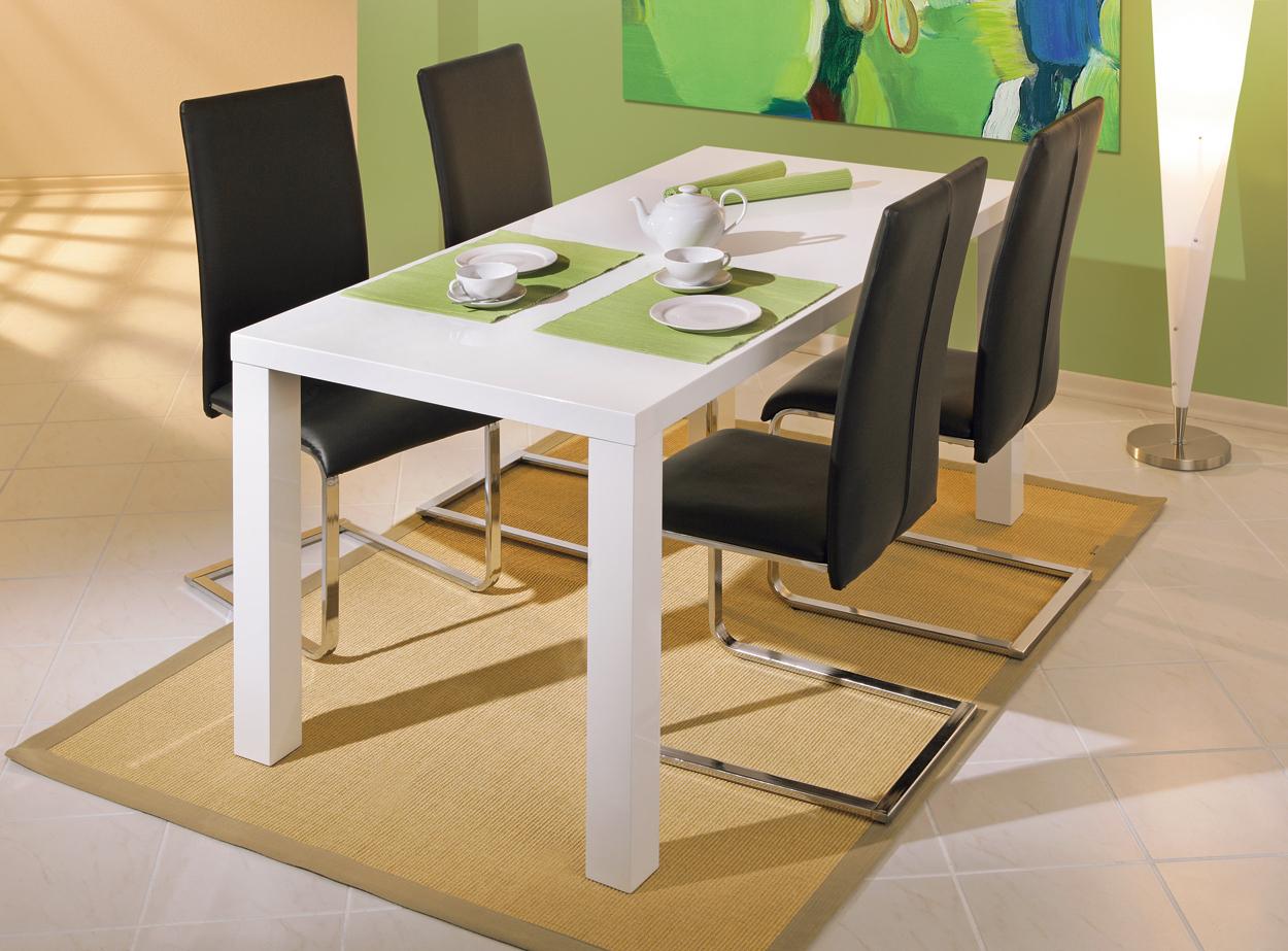 Tavolo moderno bianco moris mobile per cucina sala da pranzo for Mobile tavolo