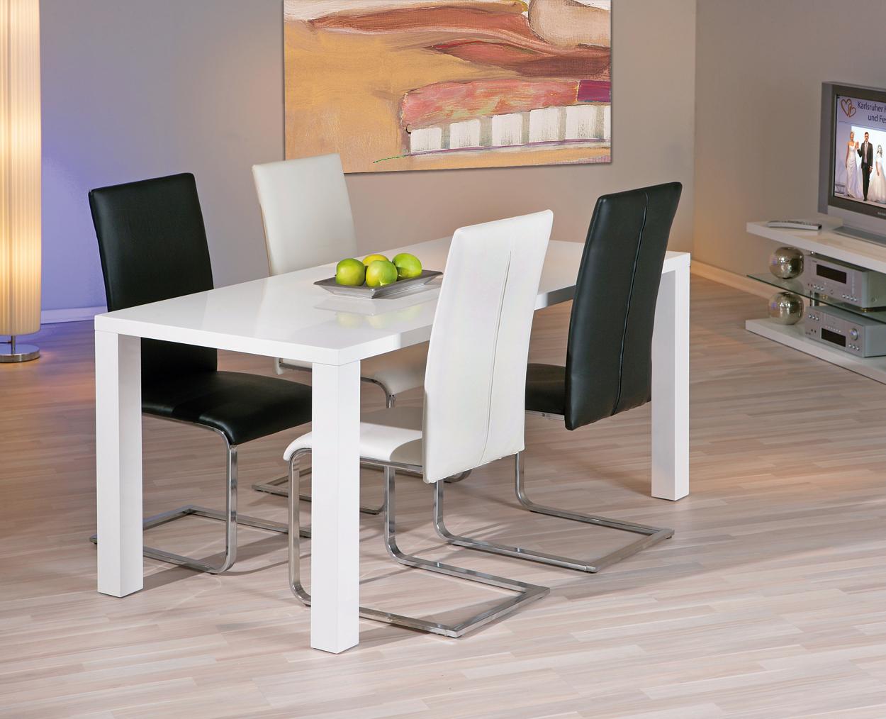 Tavolo moderno bianco moris mobile per cucina sala da pranzo for Tavolo cucina bianco
