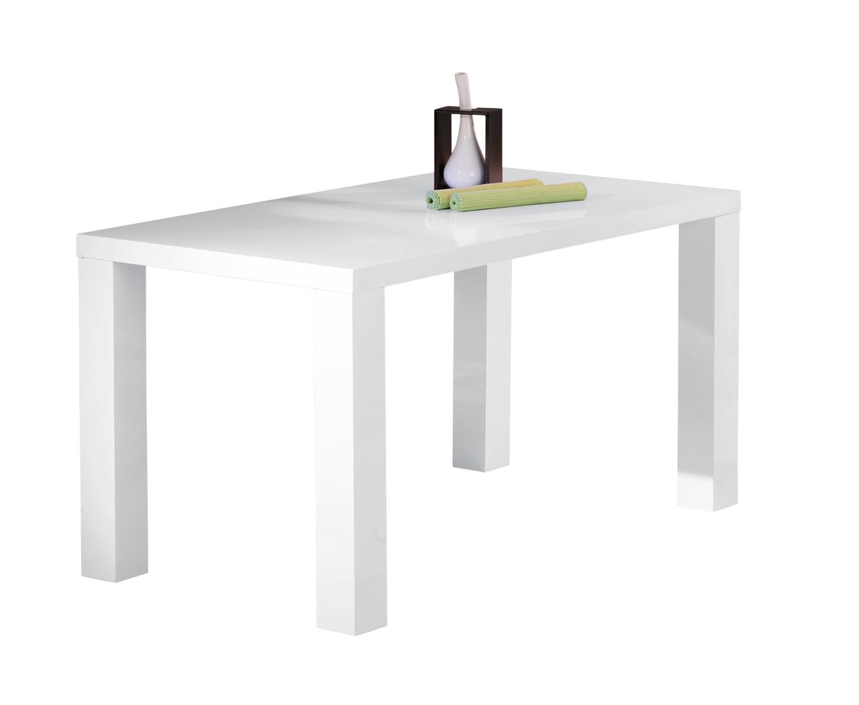 Tavolo moderno bianco moris mobile per cucina sala da pranzo for Tavolo cucina moderno bianco