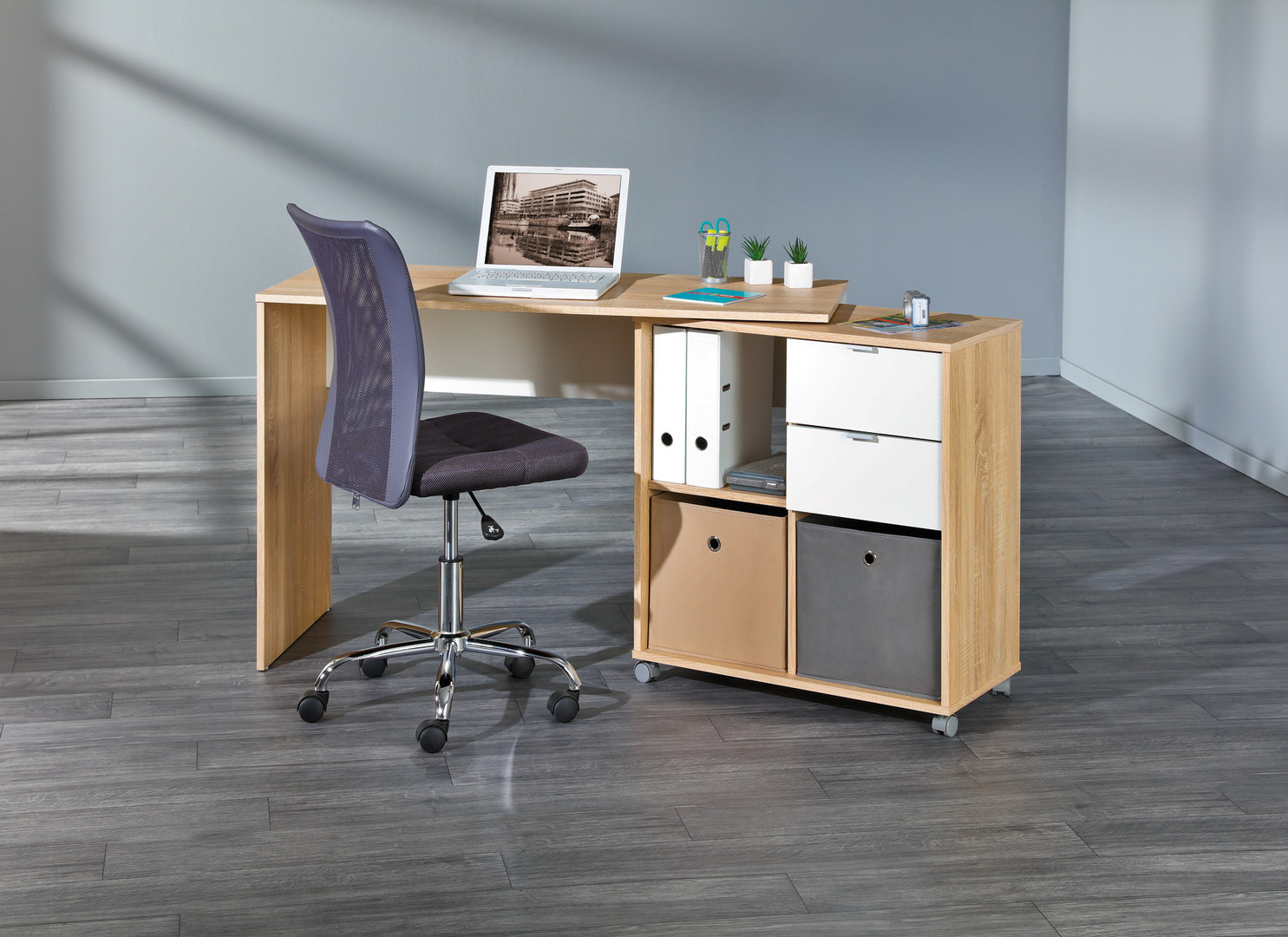 Scrivania moderna jey mobile girevole per studio ufficio