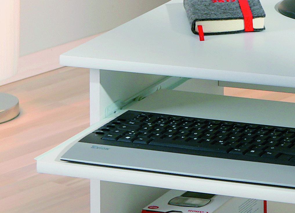 Scrivania moderna bianca Sal,tavolo per ufficio studio,mobile camera ...