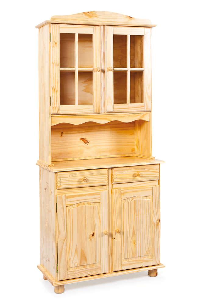 Credenza in stile Fiona 44, mobile in legno massello, soggiorno