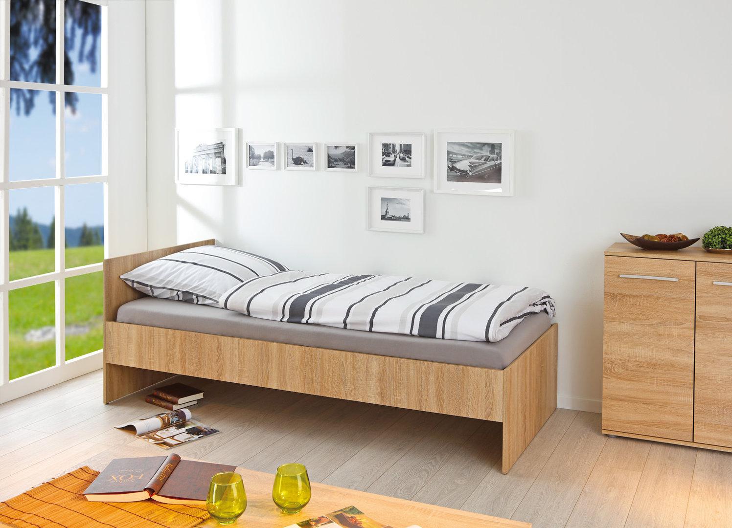 Letto singolo week bianco o rovere mobile moderno ad una piazza - Camera letto singolo ...