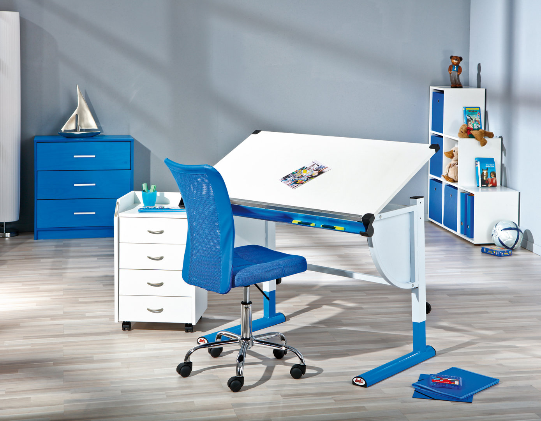 Scrivania Ufficio Blu : Tecnigrafo moderno colorato tetris scrivania per disegno ragazzi