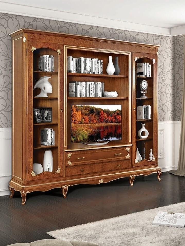 Libreria art dec con porta tv lcd cm 250x227x45 librerie mobili - Deco mobili store ...