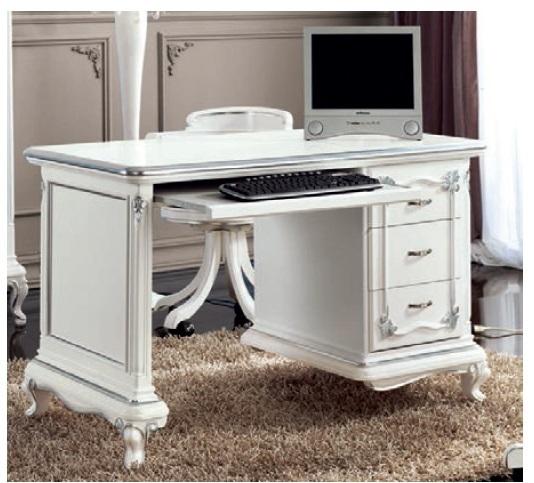 Scrivania art dec bianca mobile soggiorno ufficio studio for Scrivania soggiorno