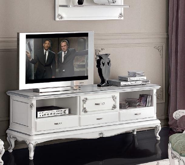 Porta tv classico in stile Art Decò,mobile televisore retrò