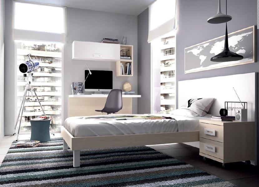 Camera moderna giovane k 507 mobili per ragazzi letto - Scrivania camera da letto ...