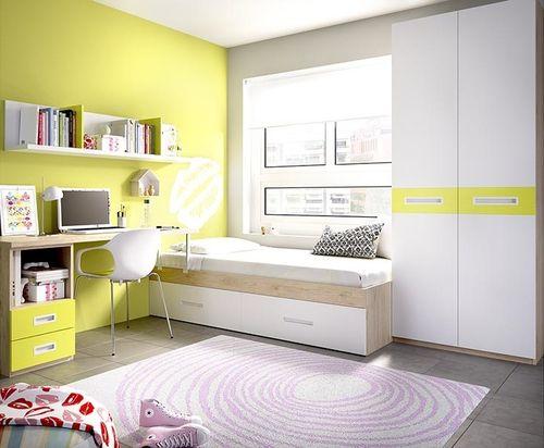 Cameretta moderna K 253,mobili per ragazzi e bambini, letto, armadio e ...