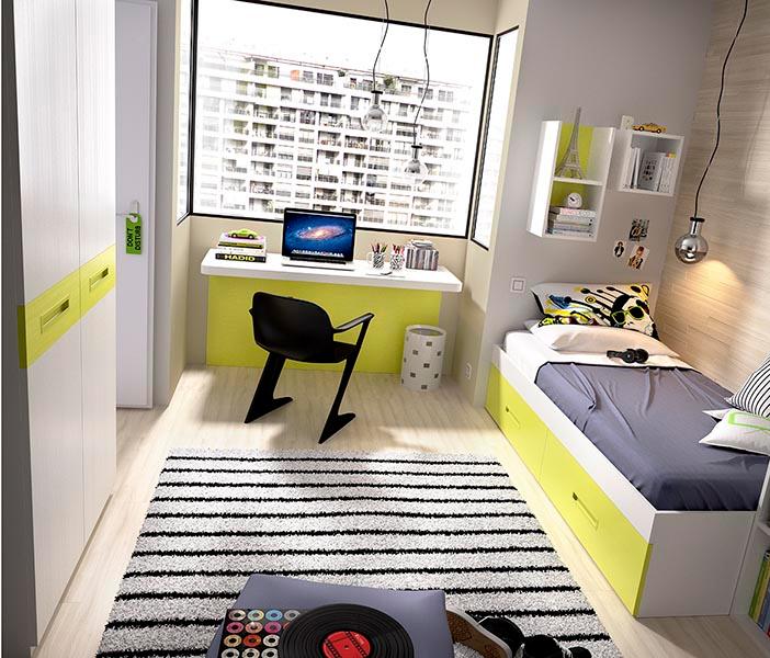 Camera moderna colorata K 217,mobili bambini ragazzi cameretta