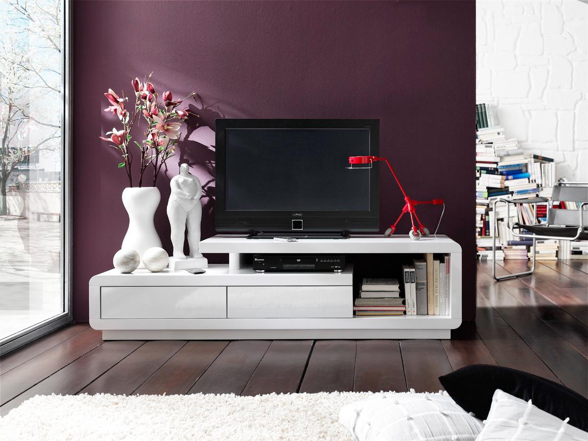 Mobile Tv Moderno Bianco : Porta tv bianco alex mobile per televisore moderno in colori