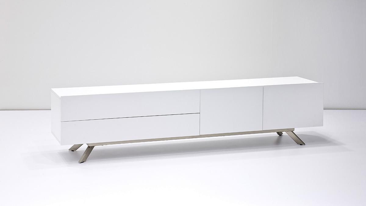 Mobile porta tv garden per soggiorno elegante bianco e for Soggiorno elegante