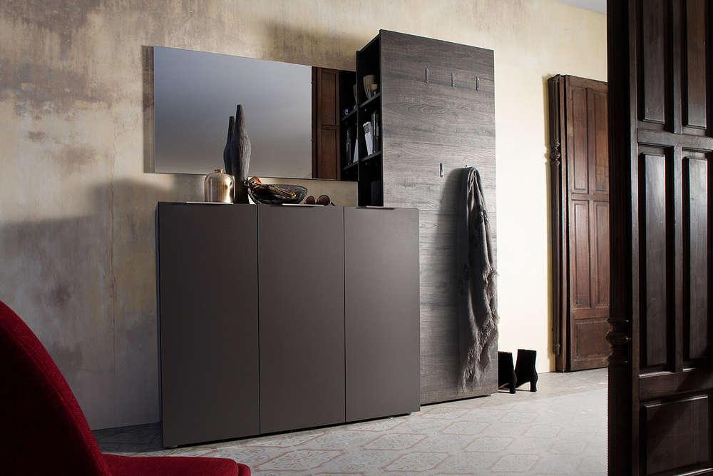 Entrata moderna malva mobili ingresso appendiabiti specchio