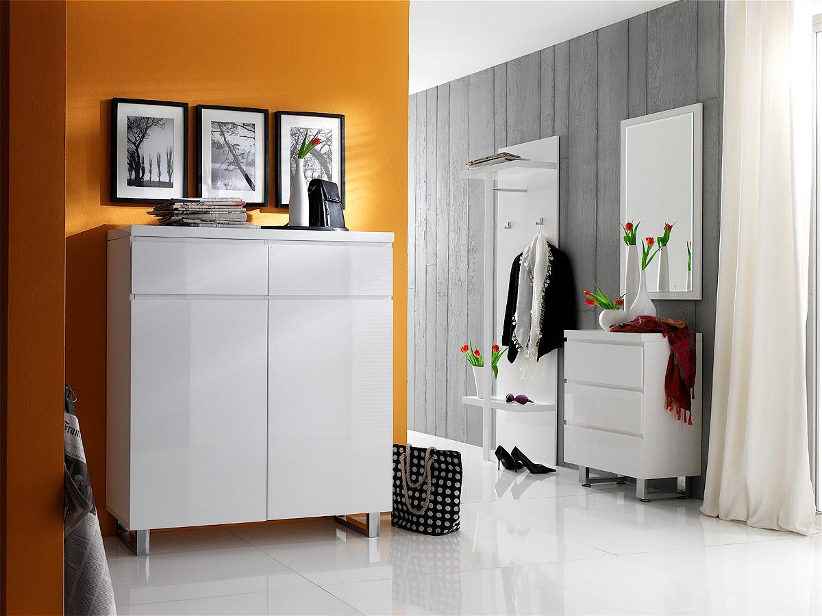 Entrata moderna melissa 55 mobile bianco ingresso specchio - Cassettiera a specchio mercatone uno ...