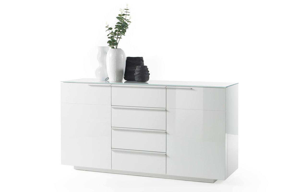 Credenza moderna Gea, madia bianca, mobile soggiorno,sala design con  cassetti