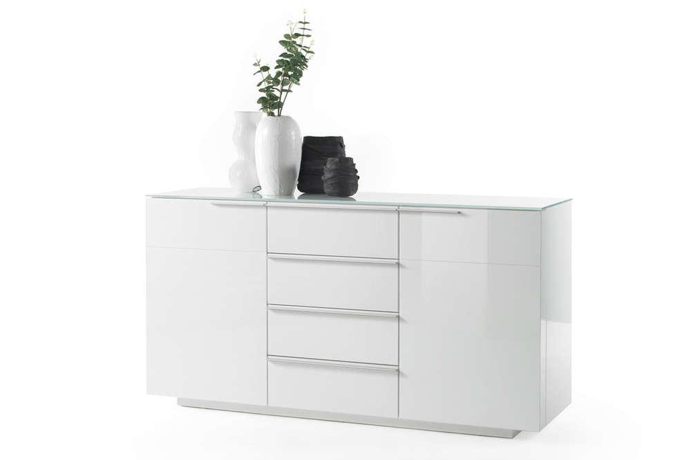 Credenza Bianca Con Ante Scorrevoli : Credenza moderna gea madia bianca mobile soggiorno sala design