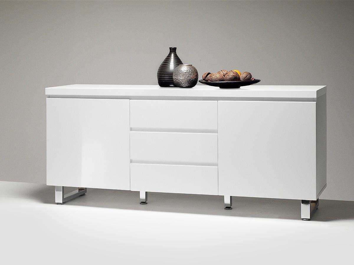Madia bianca Melissa, credenza moderna, mobile soggiorno