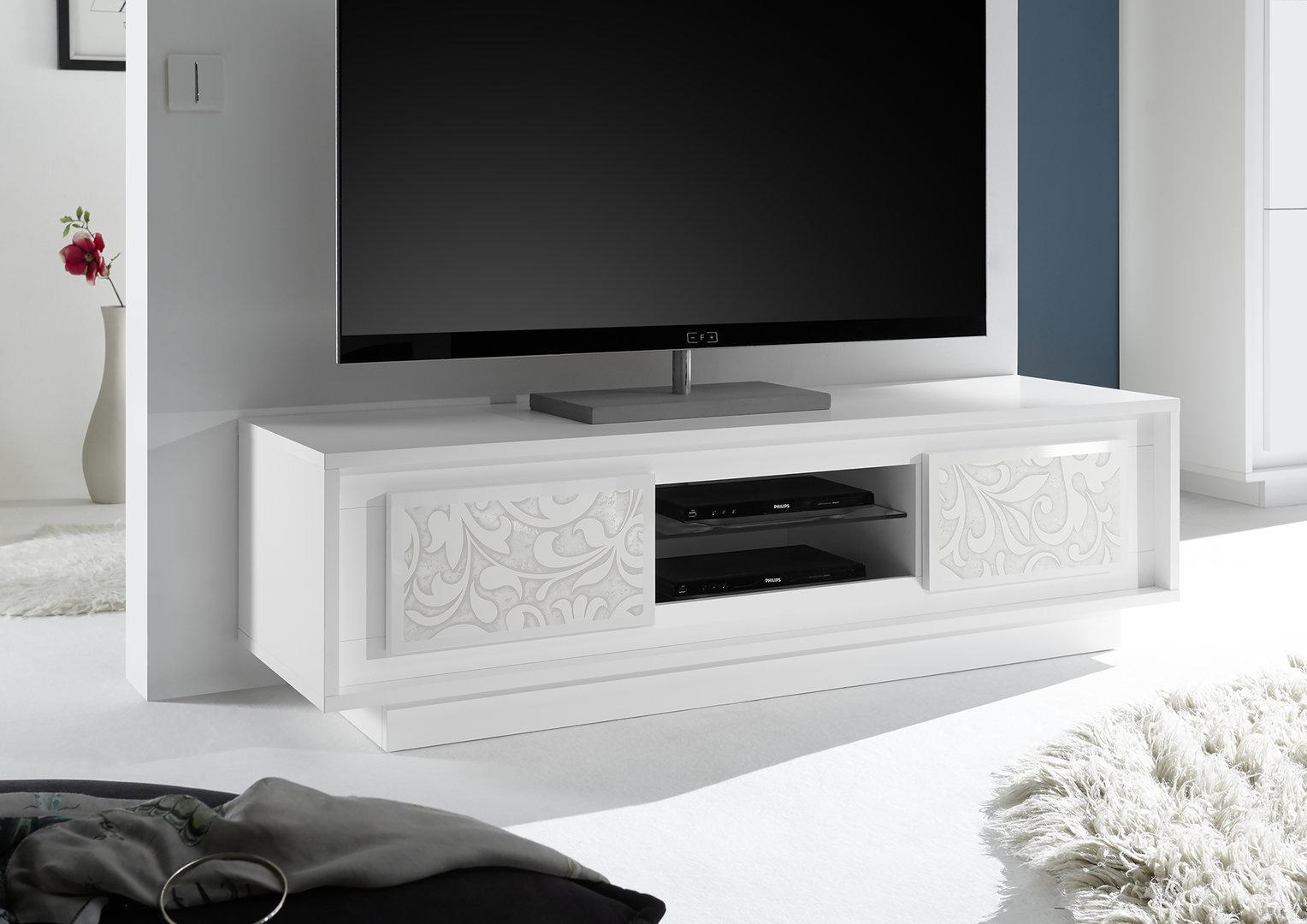 Mobile Tv Moderno Bianco : Porta tv moderno design salotto moderno design in legno tv mobili