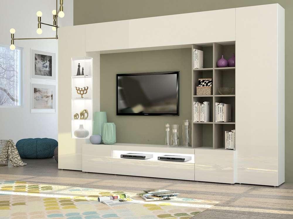 Soggiorno moderno parigi mobile porta tv composizione parete