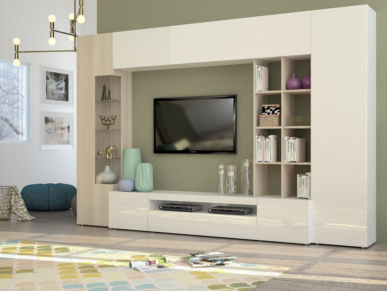 Soggiorno moderno parigi mobile porta tv composizione parete for Mdf mobili soggiorno