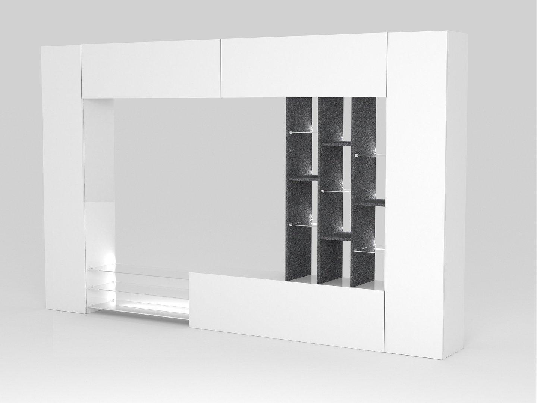 Soggiorno moderno torino porta tv bianco composizione parete