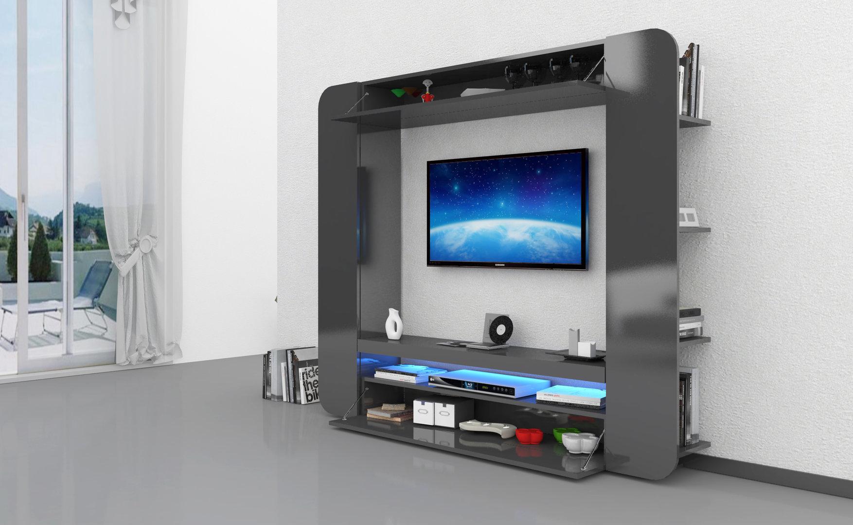 Soggiorno bianco o antracite zurigo mobile porta tv moderno for Parete attrezzata design moderno