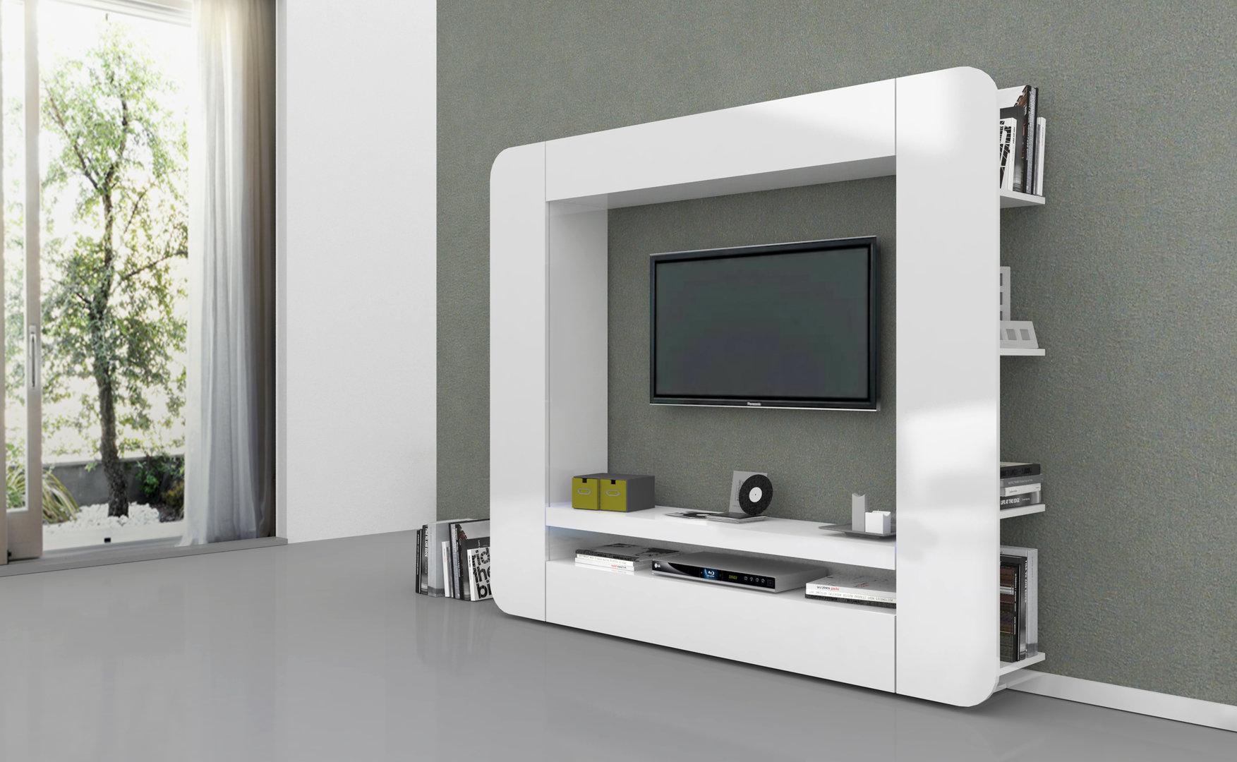 Soggiorno bianco o antracite Zurigo, mobile porta tv moderno