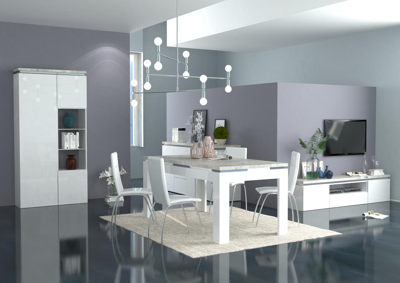 Salotto Moderno Elegante : Mobile porta tv bianco messico per soggiorno moderno elegante
