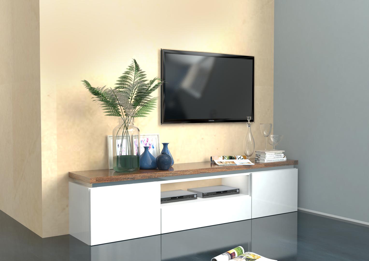 Mobile porta tv bianco Messico,per soggiorno moderno elegante