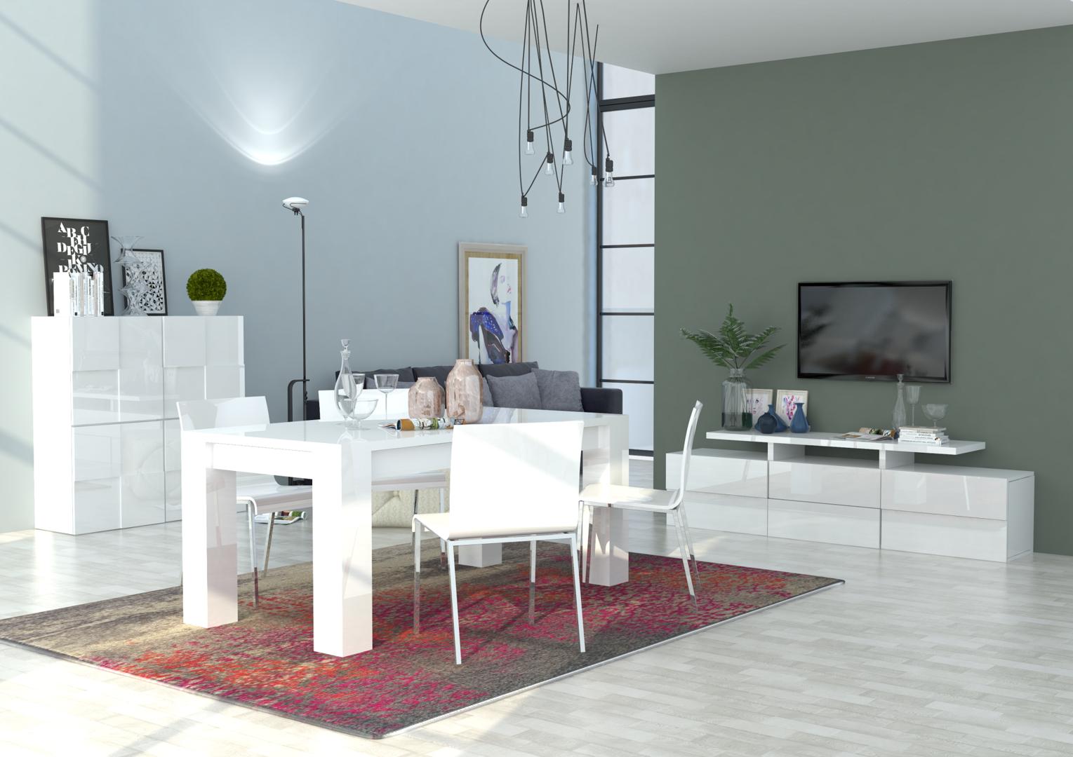 Credenza moderna canada mobile soggiorno sala da pranzo for Mobile soggiorno bianco