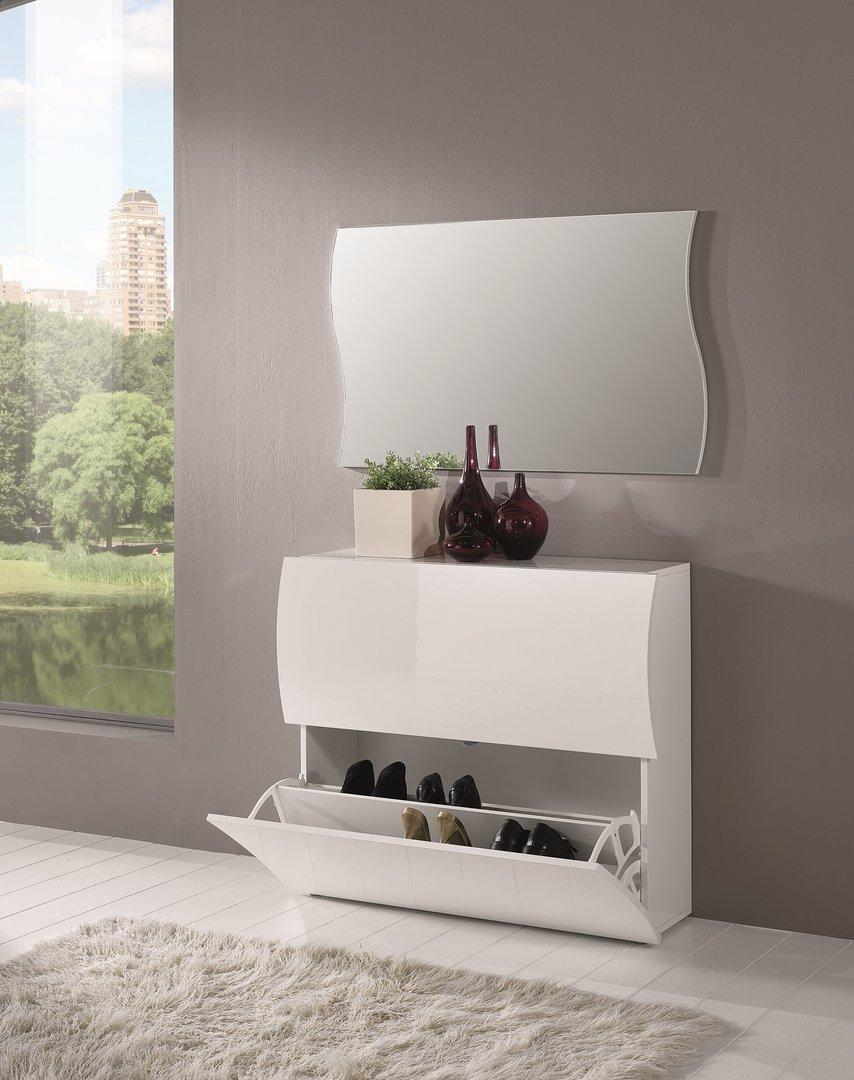 Scarpiera bianca goccia 22 mobile entrata a due ante - Vendita mobili di design on line ...