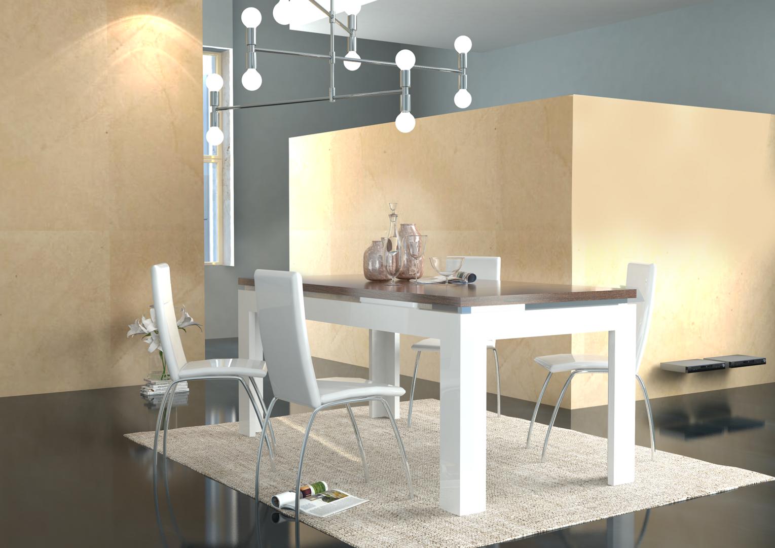 Tavolo moderno bianco messico mobile per sala da pranzo for Tavoli da sala da pranzo moderni