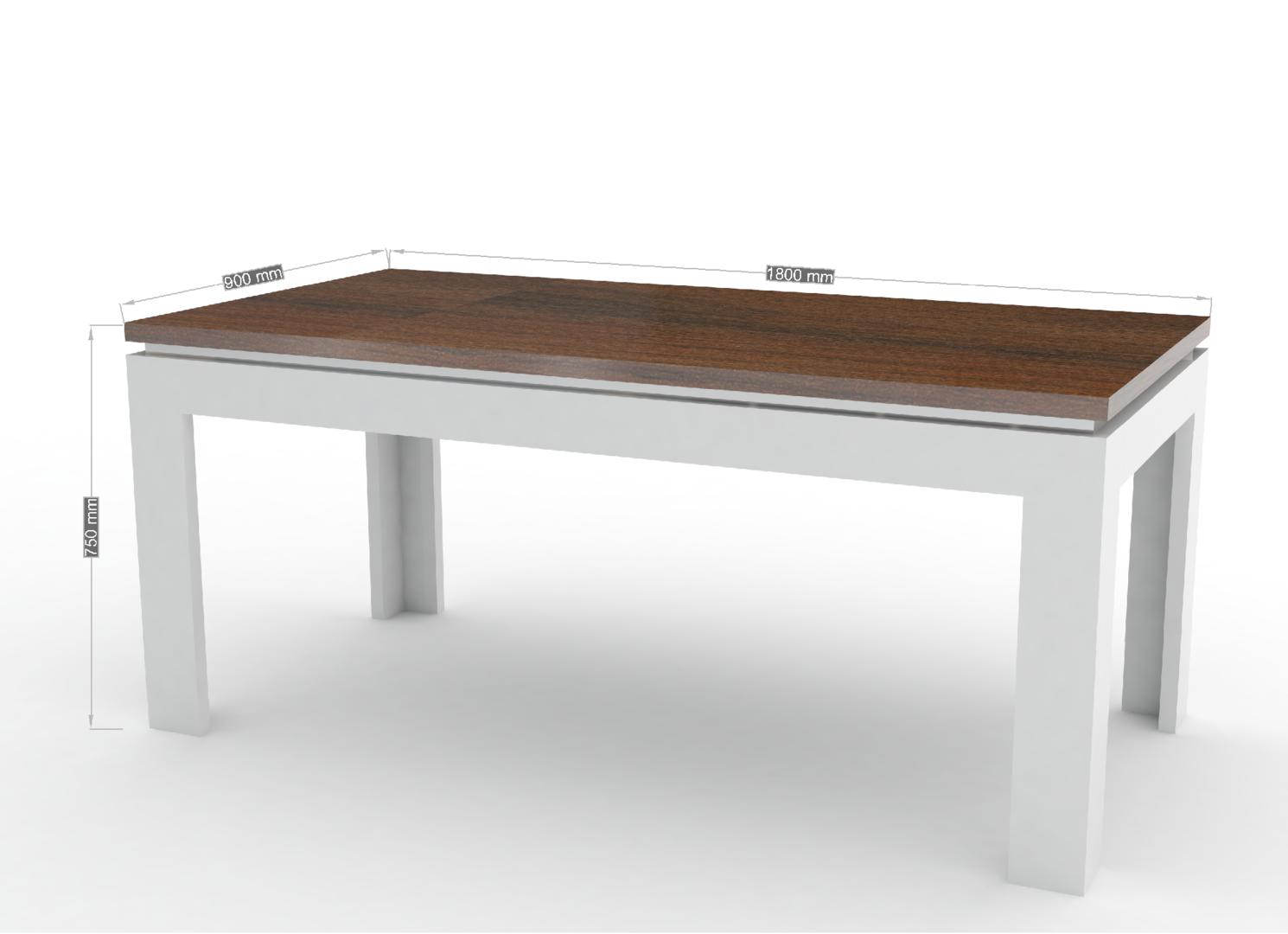 Tavolo moderno bianco messico mobile per sala da pranzo for Mobile basso da sala