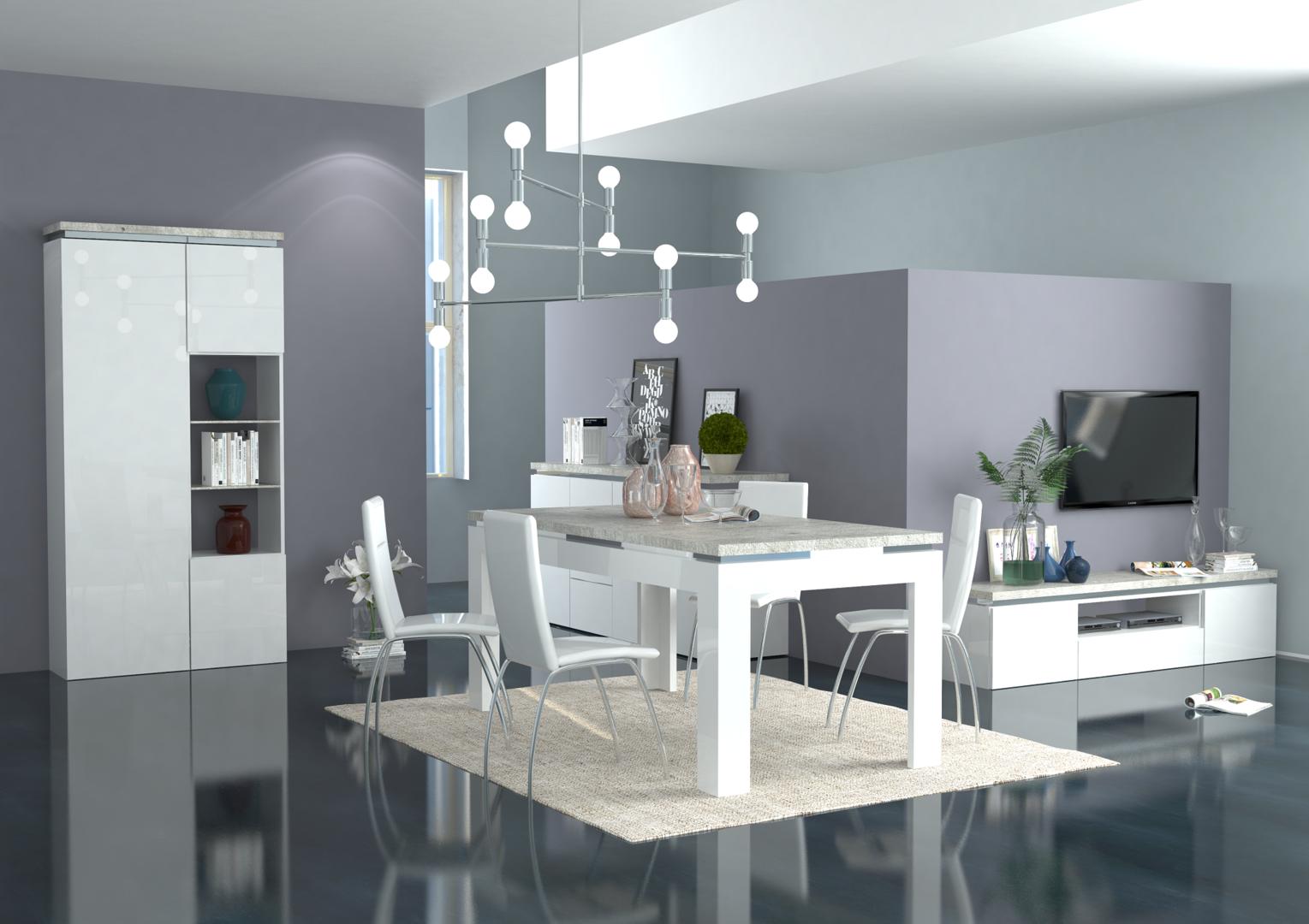 Tavolo moderno bianco messico mobile per sala da pranzo for Mobile sala
