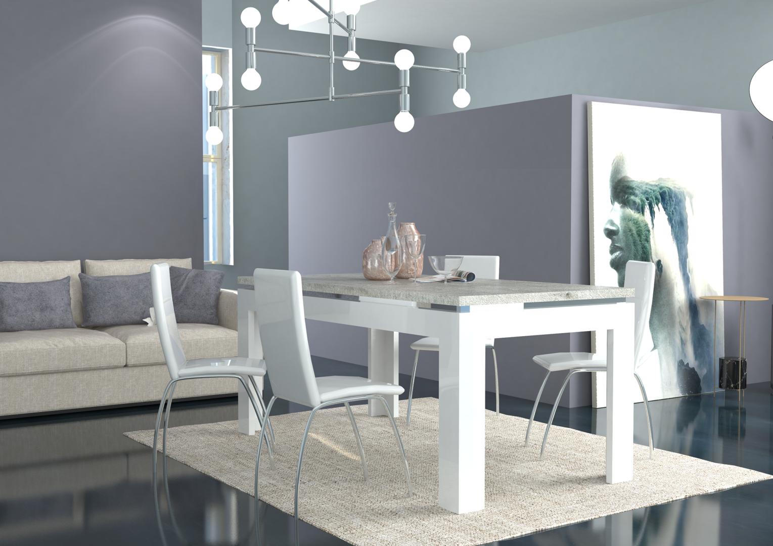 Tavolo moderno bianco messico mobile per sala da pranzo cucina - Stanza da pranzo moderna ...
