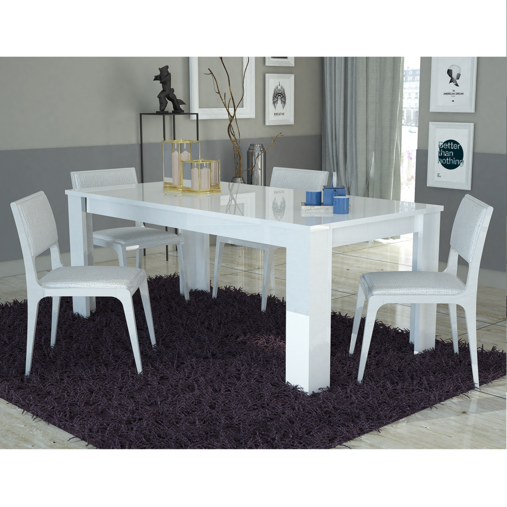 Tavolo bianco collezione Avana, mobile cucina sala da pranzo