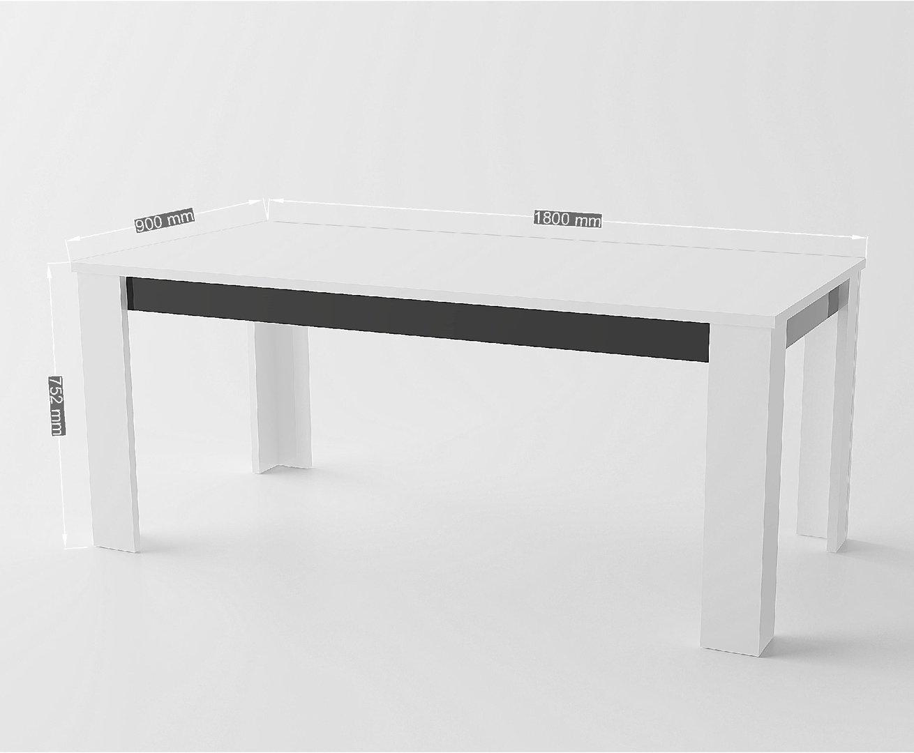 Tavolo bianco collezione avana mobile cucina sala da pranzo for Tavolo da cucina nero