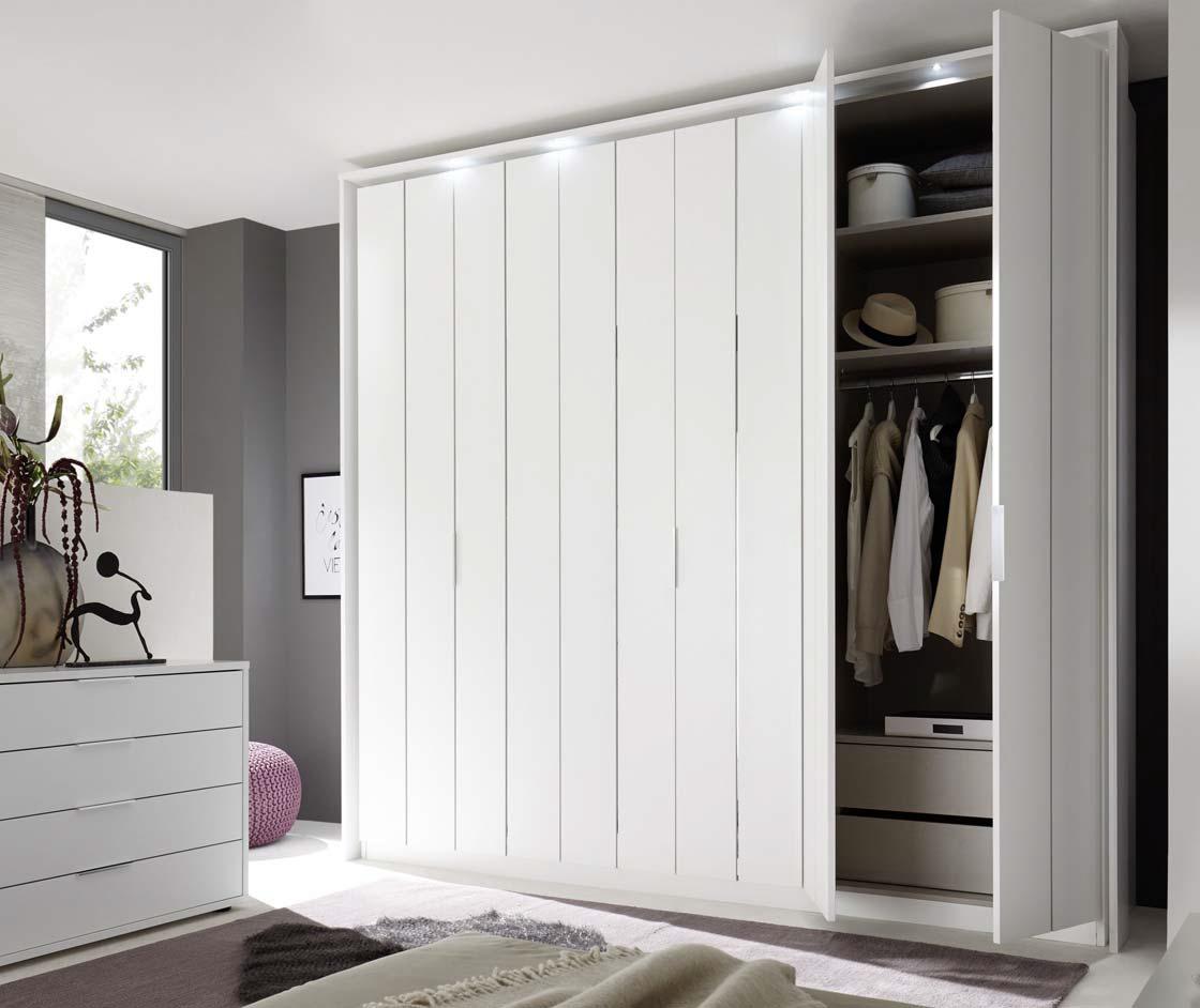 Camera da letto completa bianca luna letto armadio com comodini - Camera da letto armadio ...